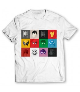 Superheroes printed graphic t-shirt